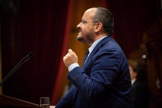 El presidente del PP catalán, Alejandro Fernández (archivo)