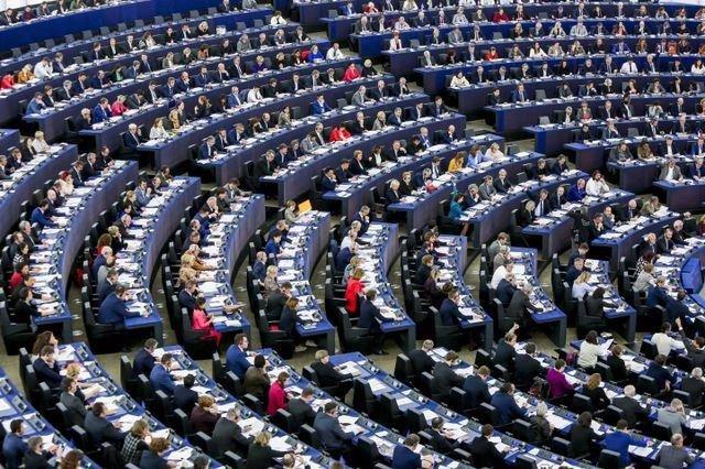 Sesión plenaria en Estrasburgo, foto de archivo