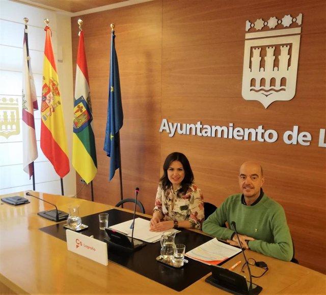 Marisa Bermejo e Ignacio Tricio han presentado dos mociones que el Grupo Municipal de Ciudadanos va a presentar al pleno de enero.