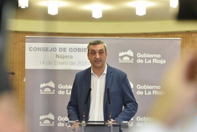 El portavoz del Gobierno riojano, Chus del Río