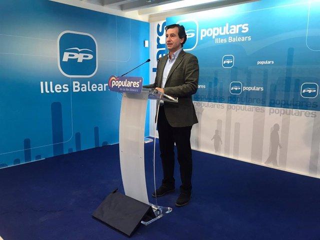 El líder del PP en Baleares, Biel Company, en rueda de prensa. Archivo, recurso