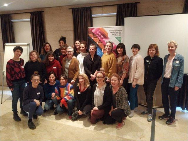 Participantes en el proyecto Centre Stage que reúne a 24 mujeres de España, Suecia e Irlanda y que se celebra en Málaga