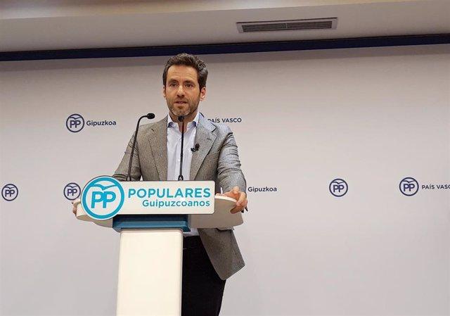 El hasta ahora portavoz del Partido Popular en el Parlamento vasco, Borja Sémper, en rueda de prensa tras anunciar que abandona la vida política, en San Sebastián /Euskadi (España), a 14 de enero de 2020.