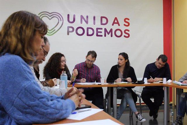 La dirección de IU Andalucía reunida con diputados de Unidas Podemos en el Congreso