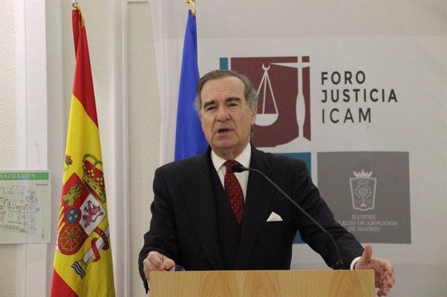 El decano del ICAM, José María Alonso, interviene en el Foro Justicia.