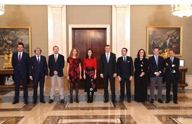 La Reina Letizia recibe en audiencia a Fedicine