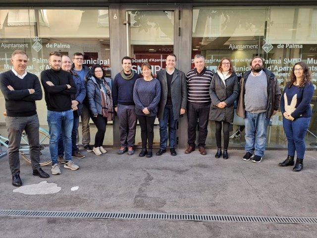 Los 12 nuevos trabajadores de la SMAP.