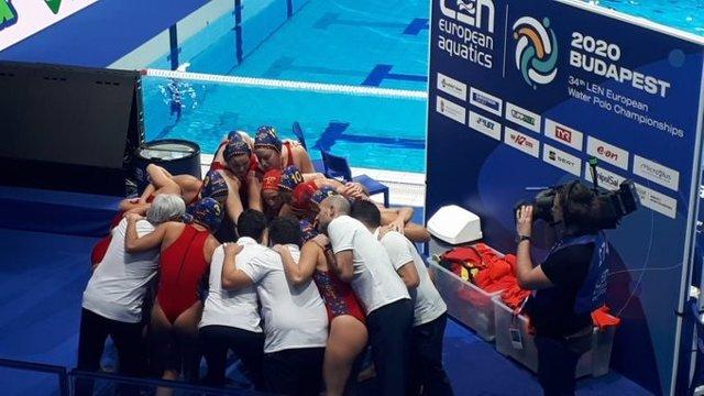 La selección española femenina de waterpolo en el Campeonato de Europa