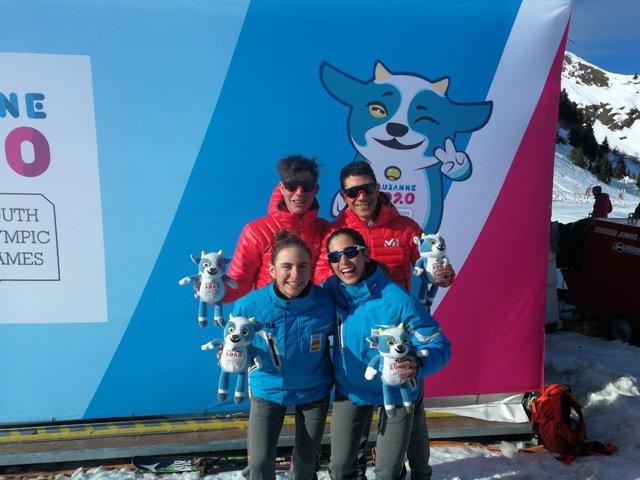 El equipo español formado Ot Ferrer, María Costa, Marc Ràdua y Ares Torra ha conquistado  la medalla de bronce en la prueba por relevos mixtos de esquí de montaña en la quinta jornada de los Juegos Olímpicos de Invierno de la Juventud
