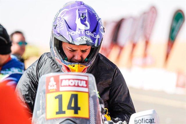 La piloto española Laia Sanz en el Rally Dakar