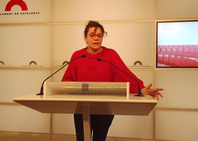 La diputada de la CUP al Parlament Natàlia Sànchez