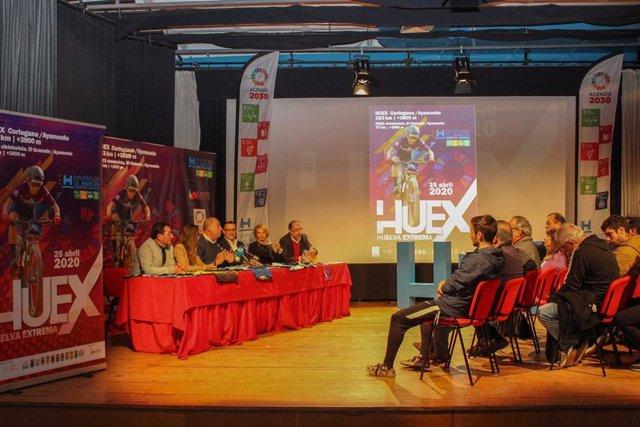 El presidente de la Diputación de Huelva, Ignacio Caraballo, participa en la presentación de 'Huelva Extrema 2020'