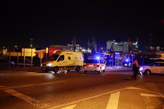 Explosió en una empresa química de la Canonja (Tarragona)