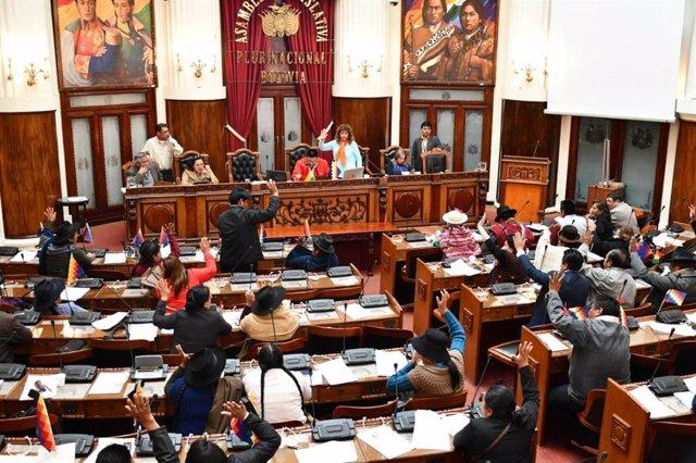 La Cámara de Diputados de Bolivia aprueba la ley de garantías políticas.