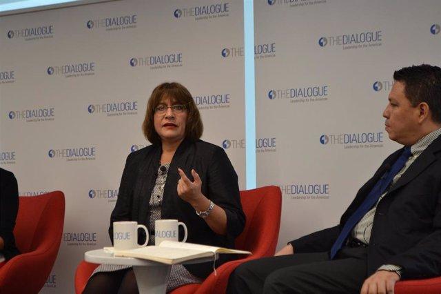 La ex portavoz de la Misión de Apoyo Contra la Corrupción e Impunidad en Honduras (MACCIH), Ana María Calderón.