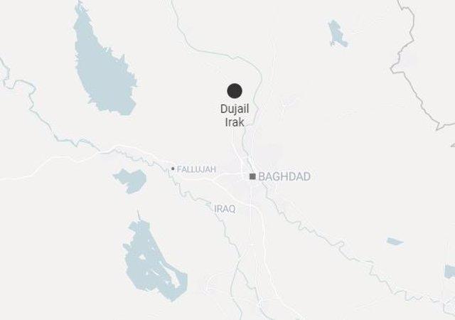 Mapa de Dujail, Irak, donde ha tenido lugar el atentado