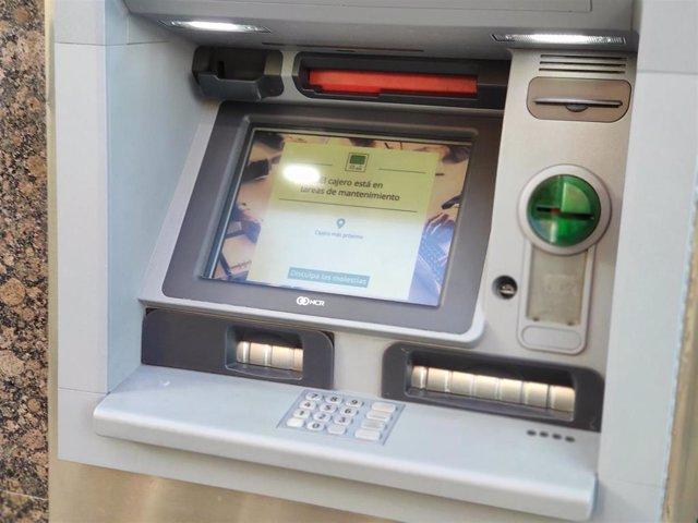 Imagen de un cajero automático.