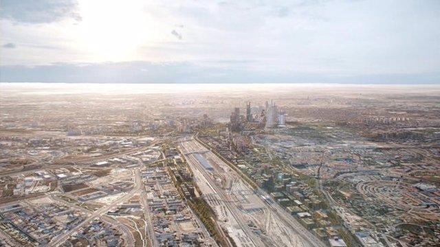 Infografía sobre las características urbanísticas del proyecto Madrid Nuevo Norte