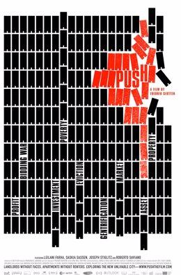 Cartel de la proyección en Málaga del documental sobre los secretos de la especulacion inmobiliaria