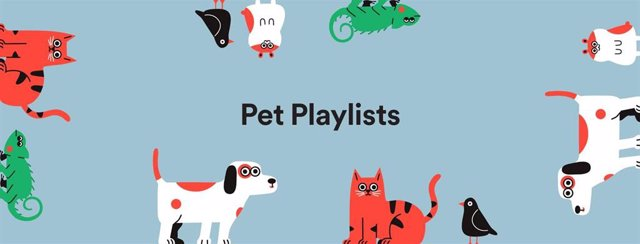 Listas de reproducción para mascotas de Spotify.