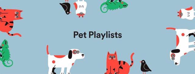 Spotify lanza las listas de reproducción para mascotas, según el animal y su per
