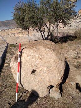 Contrapesa de almanzara romana recuperada tras ser robada en Berja
