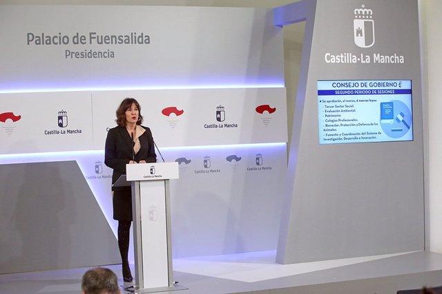 La portavoz del Gobierno regional, Blanca Fernández.