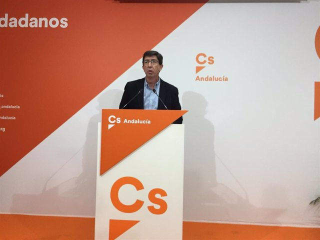 El líder de Cs en Andalucía, Juan Marín. Imagen en archivo.