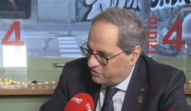 Entrevista al presidente de la Generalitat, Quim Torra
