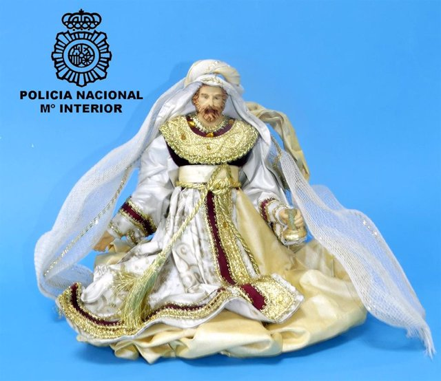 Figura del rey Gaspar sustraída del belén del HUBU