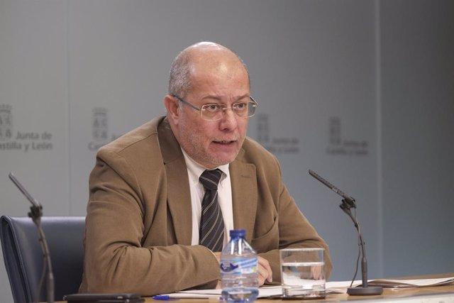 El vicepresident de la Junta de Castella i Lleó, Francisco Igea, en la roda de premsa posterior al Consell de Govern.