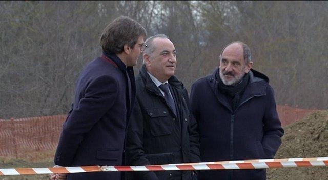 El alcalde de Vitoria y el consejero de Medio Ambiente visitan las obras de URA para evitar inundaciones en el río zadorra