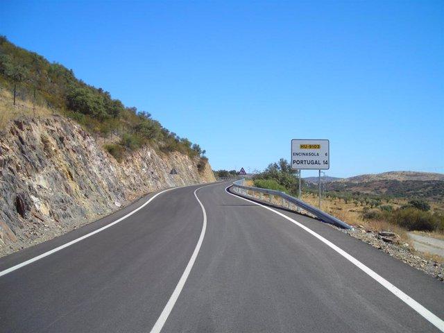 Carretera de Encinasola.
