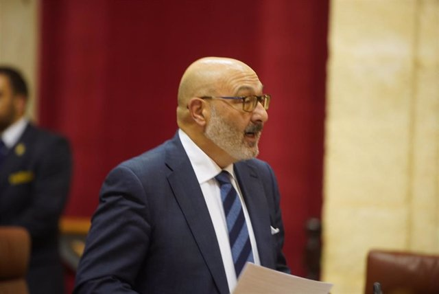 El portavoz parlamentario de Vox en Andalucía, Alejandro Hernández, en una imagen de archivo.