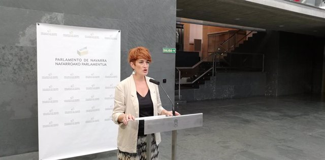 Bakartxo Ruiz, portavoz de EH Bildu en el Parlamento de Navarra