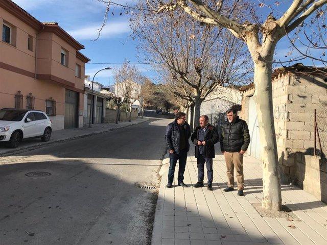Visita del diputado de Infraestructuras Municipales, José Castro, a las travesías de Castillo de Locubín