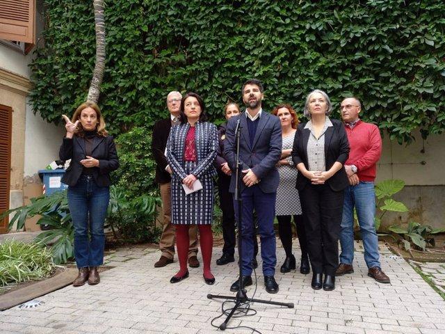 Representantes del IMAS, Consell y Delegación del Gobierno atienden a los medios por los casos de explotación sexual infantil.