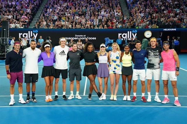 Las estrellas del tenis mundial se unen para ayudar a Australia