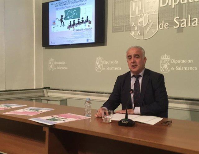 El diputado Jesús María Ortiz informa del Plan Anual de Formación de Técnicos Deportivos de Salamanca