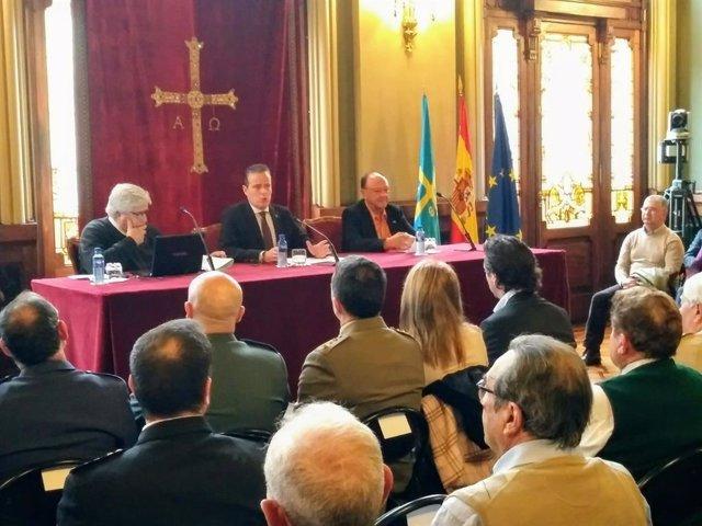 Conferencia del profesor Francisco Carantoña sobre el general Del Riego.