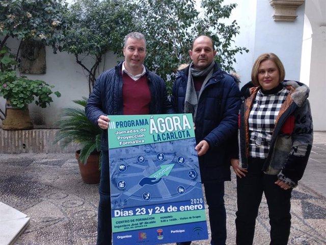 Ruz (centro), junto a Granados, presenta la tercera edición de 'Ágora La Carlota'