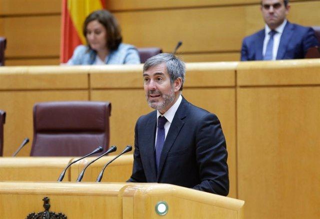 El senador de Coalición Canaria Fernando Clavijo, en el Senado