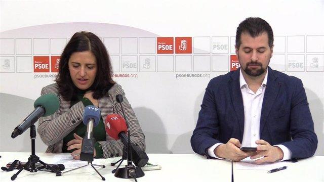 Esther Peña, Secretaria Provincial Del PSOE De Burgos, Y Luis Tudanca, Secretario Regional Del Pscyl.