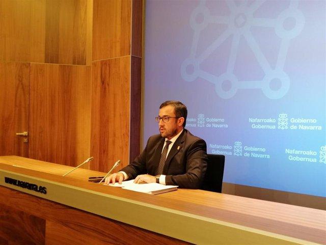 El portavoz del Gobierno de Navarra, Javier Remírez