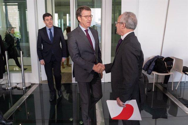 El presidetne de la Xunta preside la firma de un convenio de patrocinio del Xacobeo con Vegalsa-Eroski
