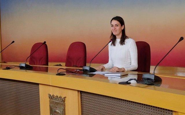 Rueda de prensa de la portavoz mediática de Más Madrid en el Ayuntamiento de la capital, Rita Maestre