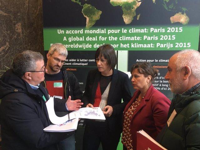 Imagen de la delegación del BNG en en Bruselas el pasado mes de diciembre