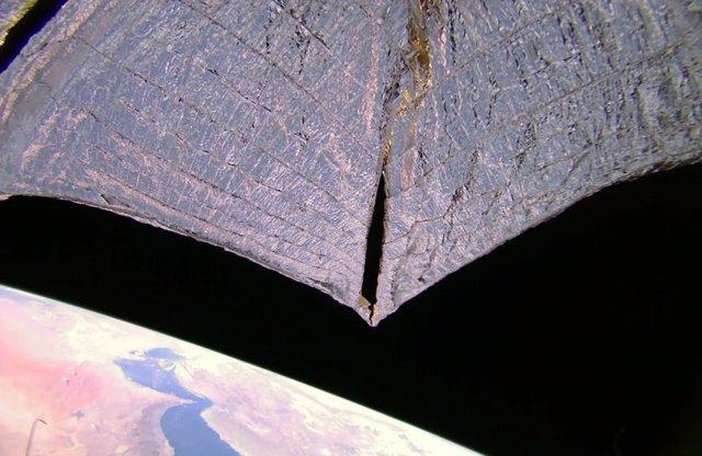 LightSail 2 volando sobre el Golfo Pérsico