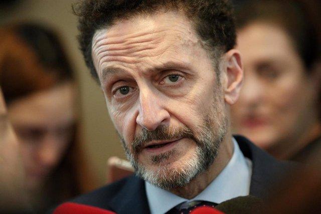 El portavoz adjunto de Ciudadanos en el Congreso de los Diputados, Edmundo Bal, atiende a los medios de comuniación