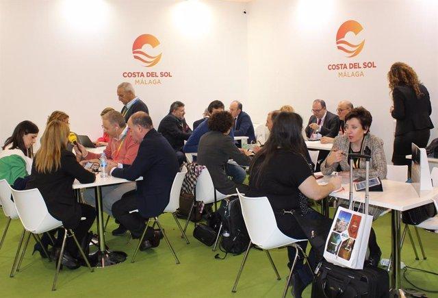 Estand costa del sol presentaciones turismo fitur profesionales reuniones expositor